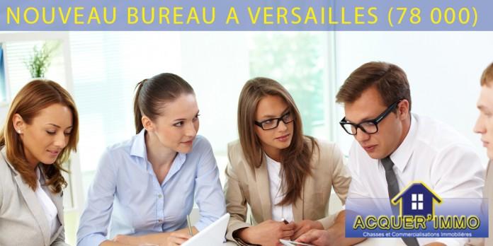 Acquer'immo le réseau immobilier spécialiste du neuf ouvre un bureau à Versailles